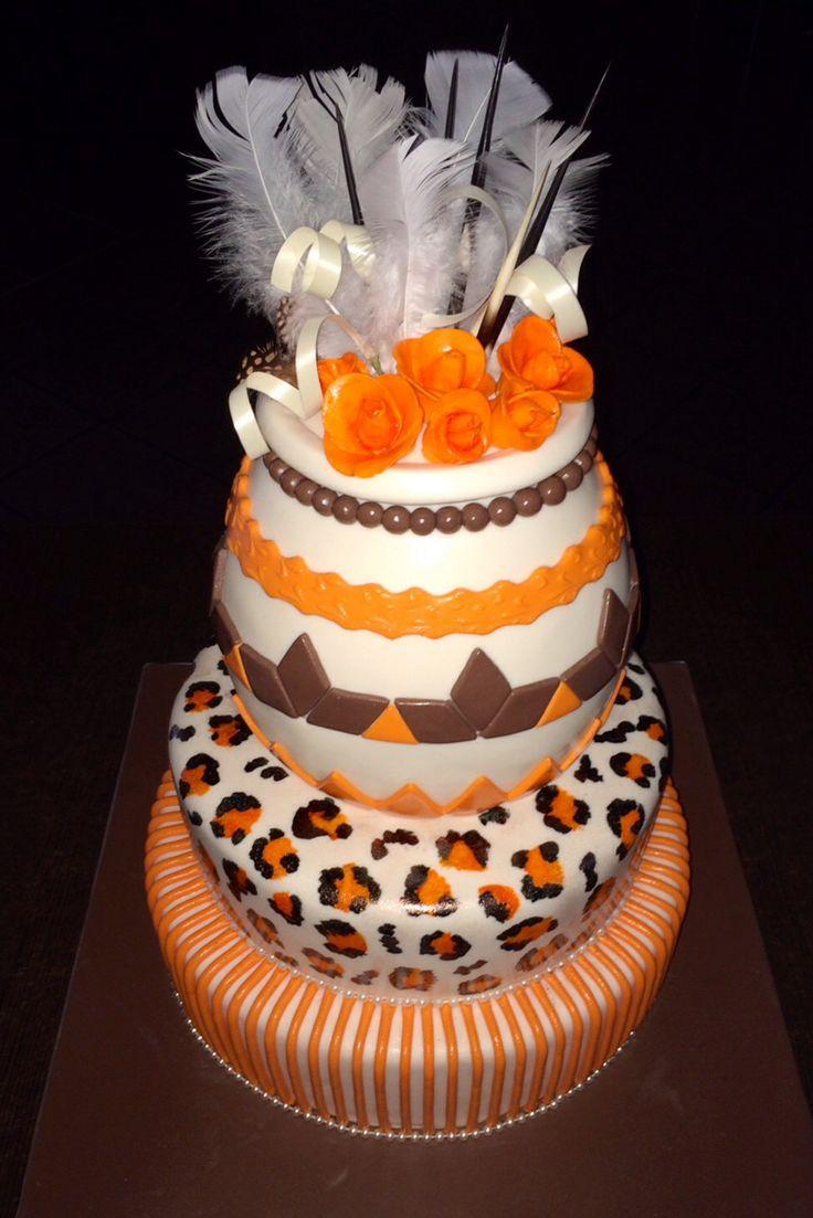 Three Tier African Wedding Cake