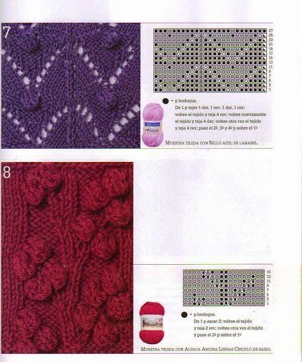 lo spazio di lilla: Collezione punti ai ferri 30 / knitting stitches collection 30