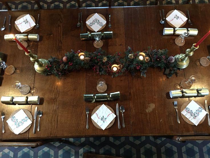 Christmas table Alton Station 2016