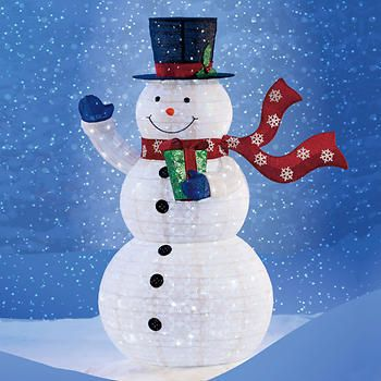 """72"""" Pop-Up Snowman with 300 LED Lights"""