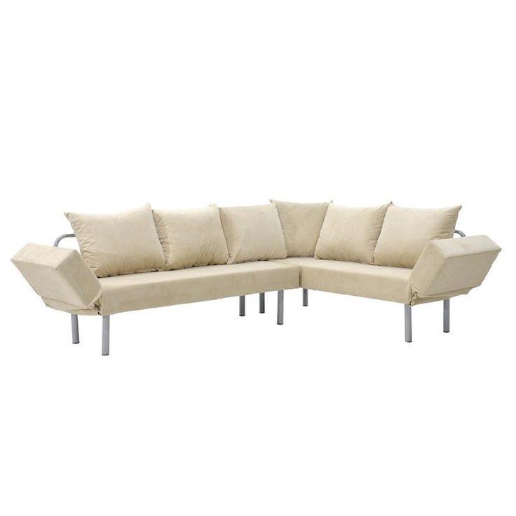 Γωνιακός καναπές Seul Corner με ύφασμα εκρού 233x170x85