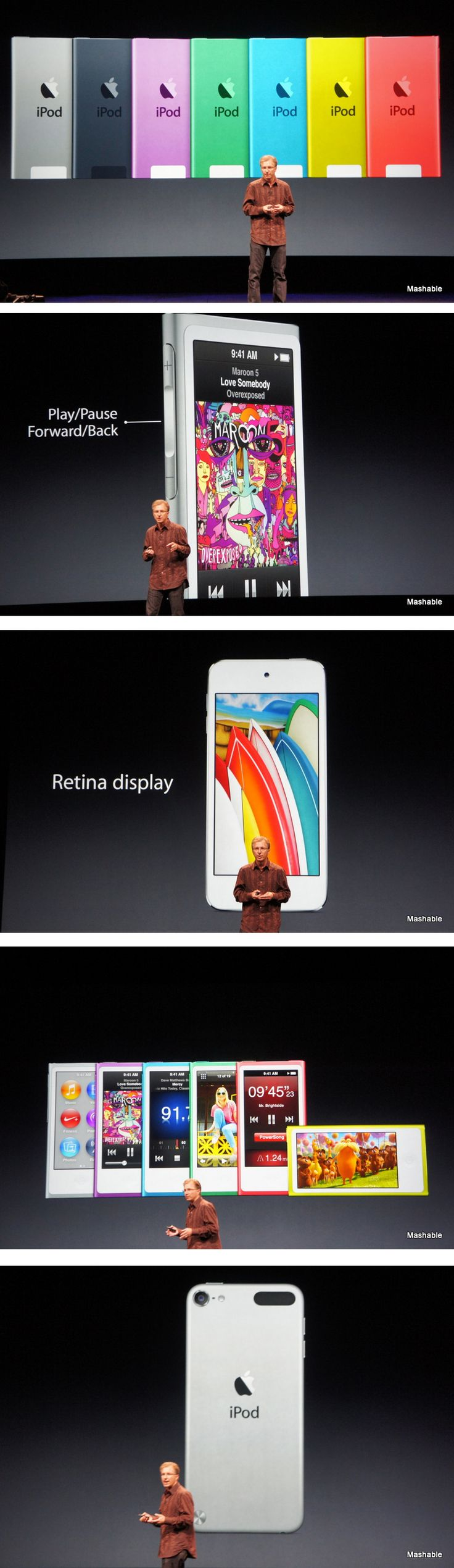Apple Announces New Colorful, Thinner iPod Nanos