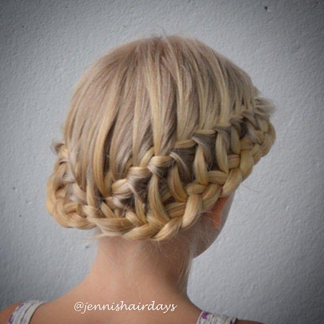 Ladder braid crown by Jenni's Hairdays Tikapuu kruunuletti