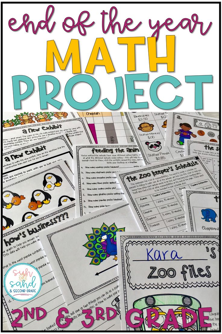 This end of the year math project is an engaging and fun way to review and spiral common cores math standards. Students will love this real world math project where they become zookeepers, and you'll love seeing their problem solving skills come to life! These activities cover addition, subtraction, fractions, coins, time, measurement, and more! (2nd, 3rd grade)