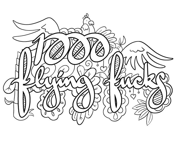 1000 flying fucks coloring page by colorful language posted with - Dirty Coloring Books