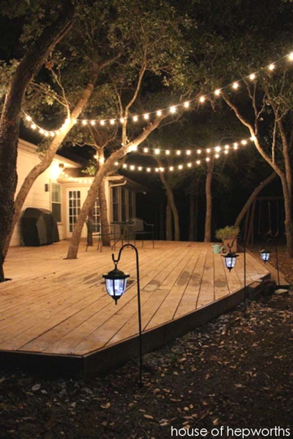 10 Easy Patio Light Designs You Can Do For Your Backyard Spaces