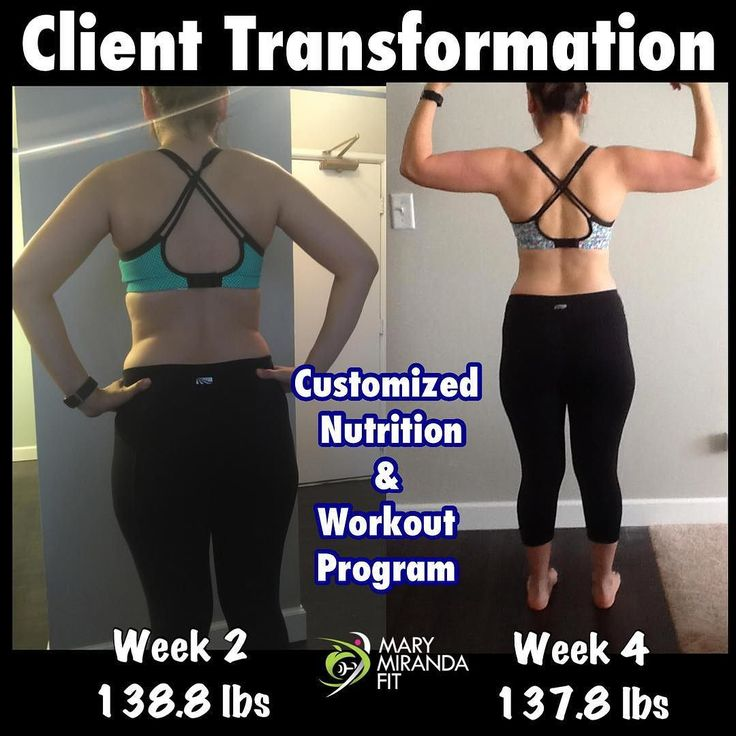 Client's transformation pictures. - She purchased my 8-week Customized Nutrition & Workout Plan to help her lose body fat and tone up. She is a mother of 3 children. - She came to me weighing initially 140.6 lbs and after 4 weeks she was able to lose 2.8 lbs gain muscle tighten up and flatten tummy. - Thank you Sandra for trusting me with your fitness journey. -  - Les quiero compartir fotos de progreso de otra clienta. - Ella compró mi programa personalizado de Nutrición y Ejercicio de 8…