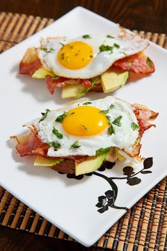 Poached Egg on Toast with Chipotle Mayonnaise, Bacon, and Avocado...