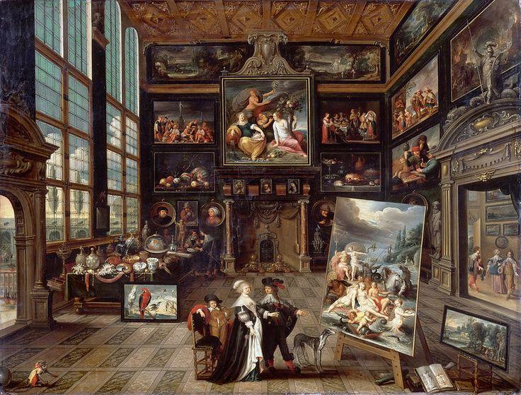 Cornelis de Baellieur - Interior of a Collector's Cabinet [1637]