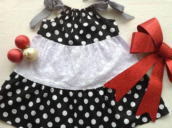 Girls size 3 monochrome cotton dress
