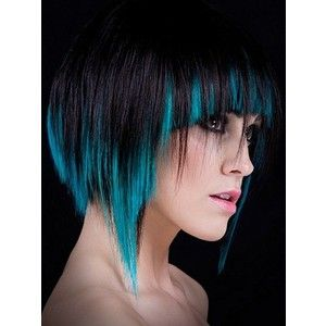 Fuck Yeah, Fantasy Hair!, awesome disconnected haircut with black and teal...