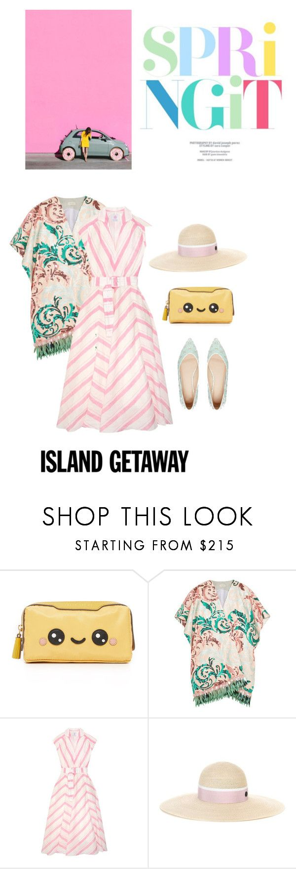 """Kawaii"" by iriadna ❤ liked on Polyvore featuring Anya Hindmarch, Delpozo, Gül Hürgel, Maison Michel, ASOS, summerdress, mixitup and islandgetaway"