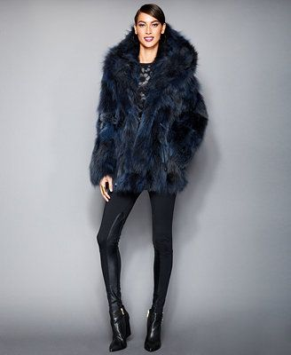 The Fur Vault Hooded Coyote-Fur Parka in blue. Good reviews and you'll look like a rockstar!