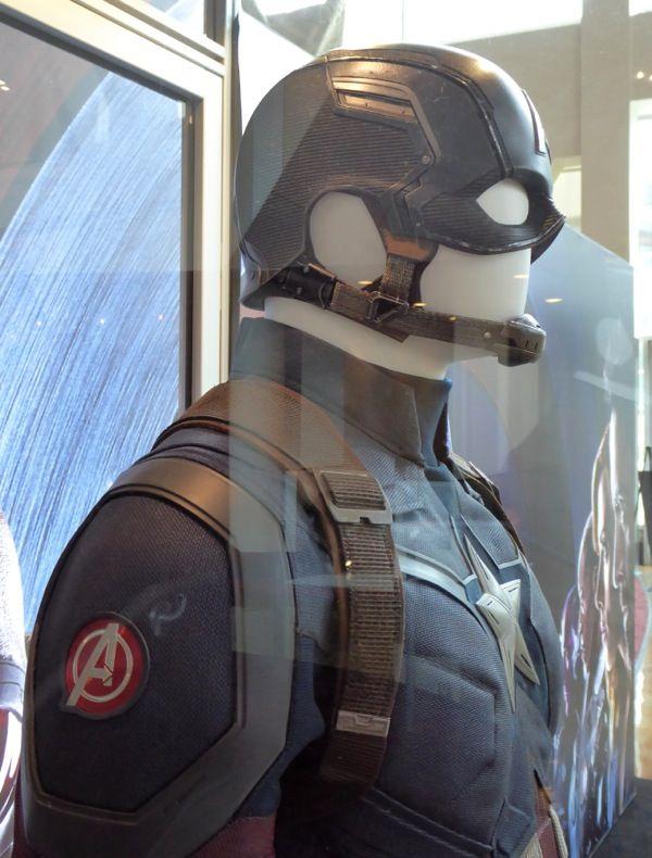 Captain America: Civil War costume and helmet detail