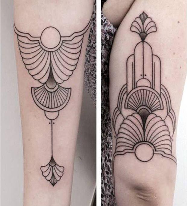 Inspirada pela geometria sagrada, Mirja Fenris cria tatuagens de simetrias perfeitas