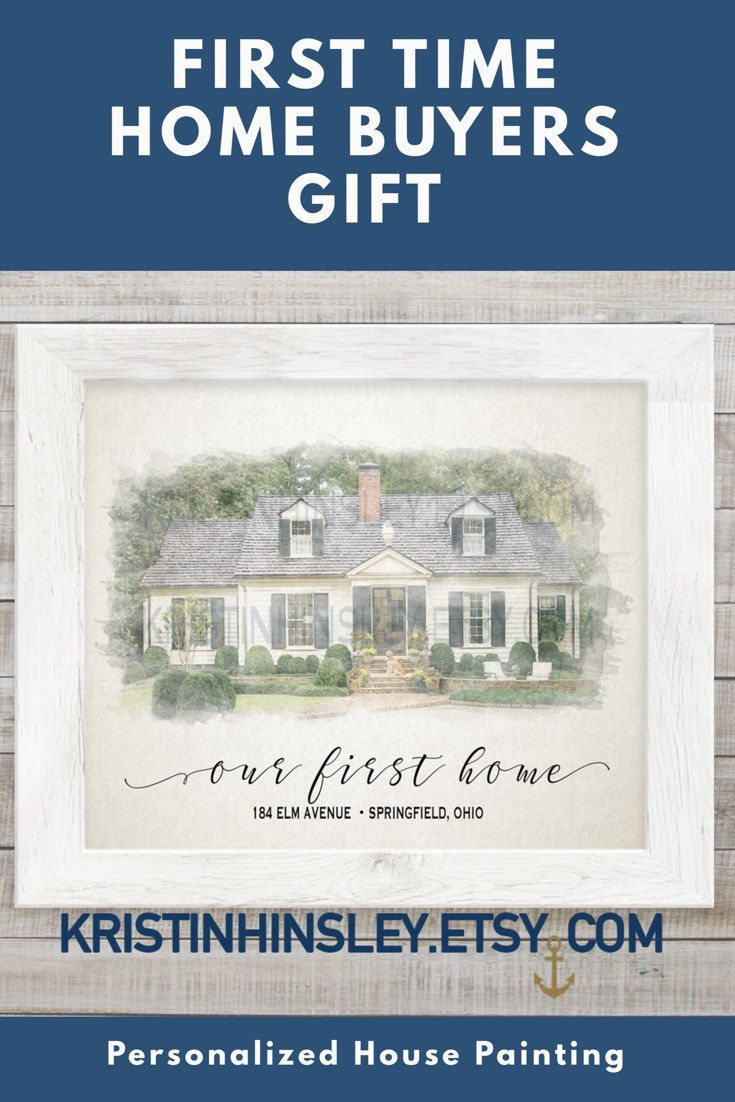 First Time Home Ers Gift Our Ideas Personalized New Homeowner Closing House Watercolor Painting