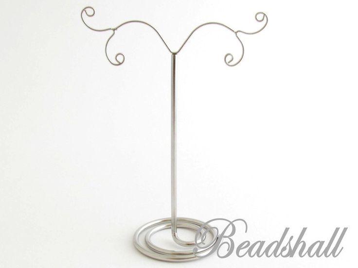 Schmuckständer - 1 Ohrringständer für 2 Paar Ohrringe Farbe Silber - ein Designerstück von beadshall bei DaWanda