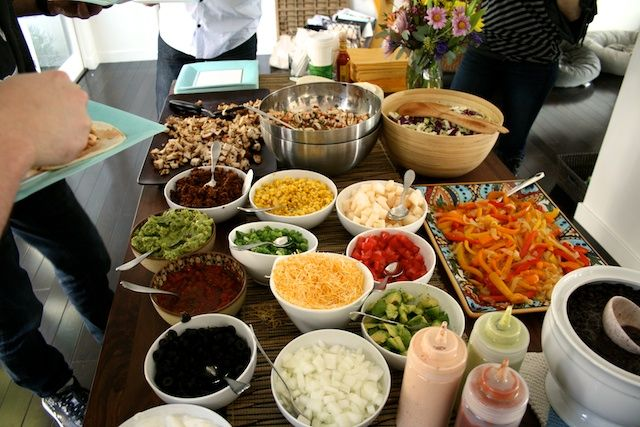 1000 images about taco bar bridal shower on pinterest for Food bar party