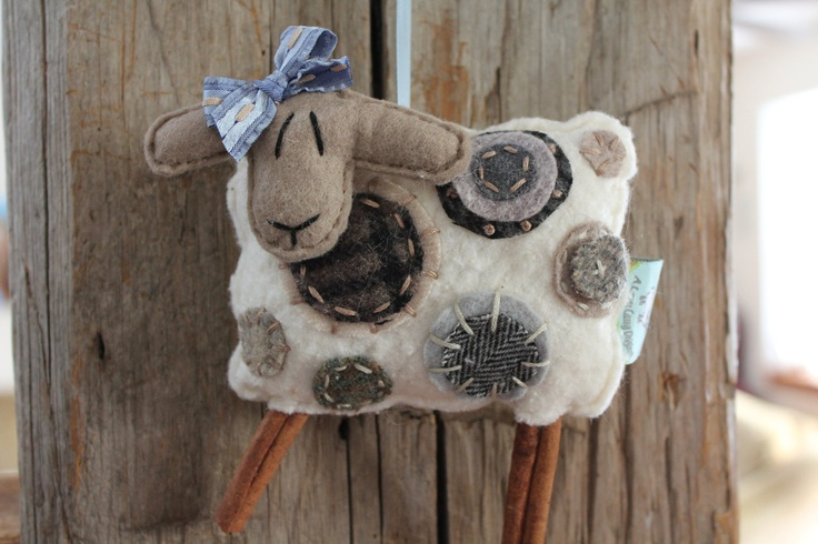 EweLa Sheep Ornament by farmyardart on Etsy