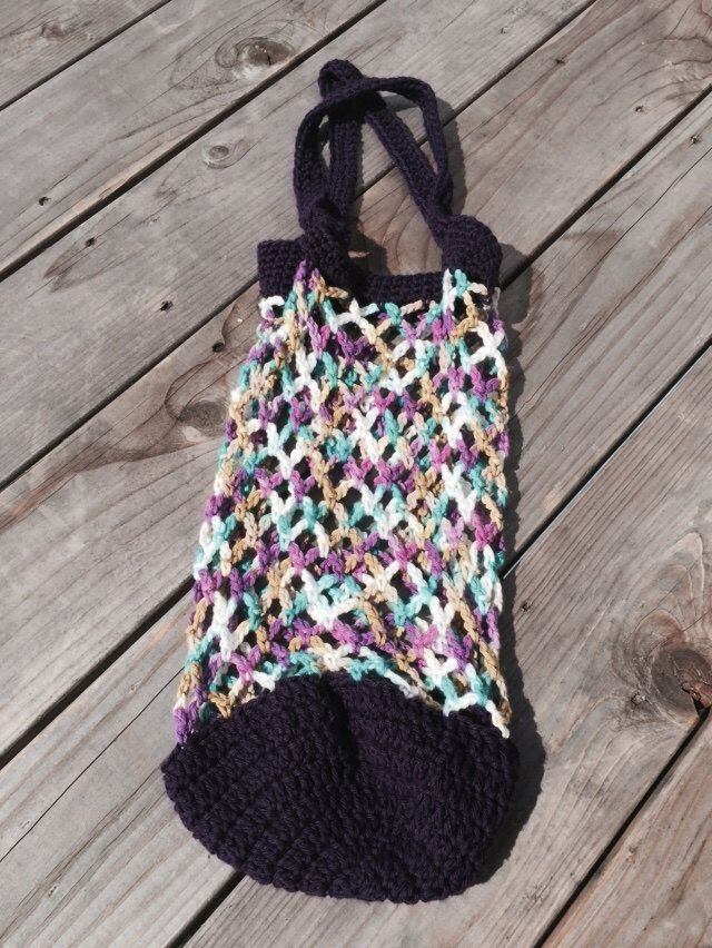 A personal favorite from my Etsy shop https://www.etsy.com/listing/233064422/small-crochet-market-bag-farmers-market
