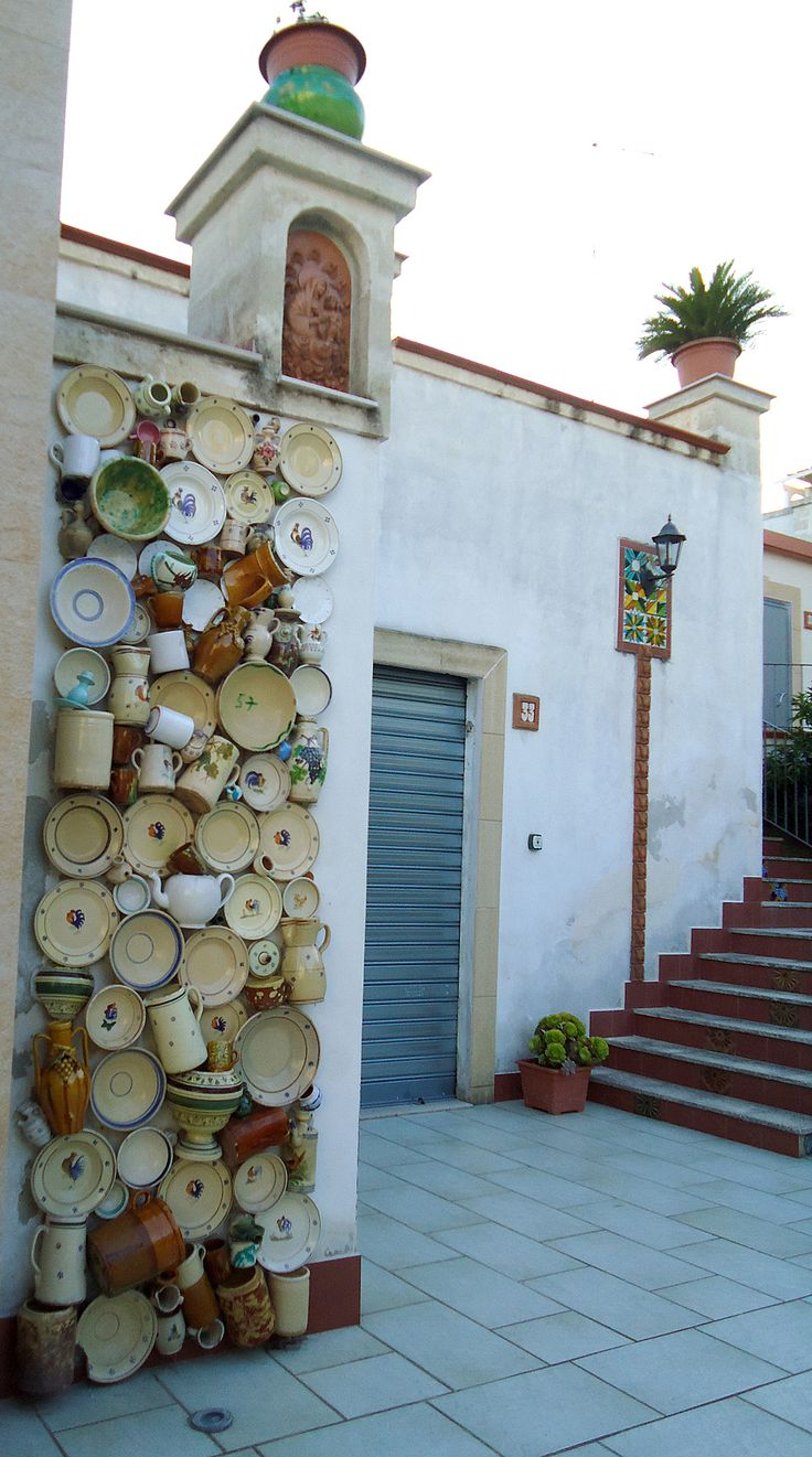 Ceramica in Grottaglie, Puglia, Italy. Shop now Fiore And Gallo collection on…