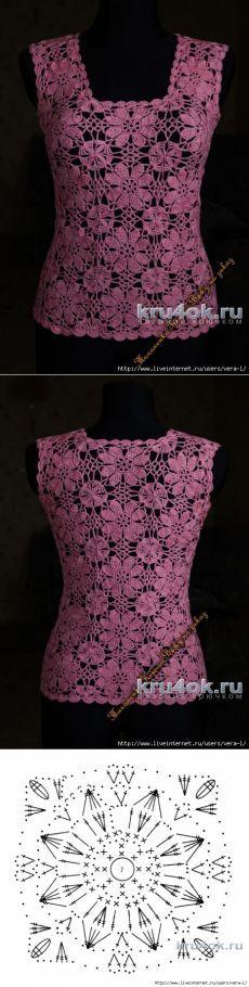 Топ крючком. Работа Ксюши Тихоненко [] # # #Irish #Crochet, # #Crochet #Tops, # #Crochet #Blouse, # #Beautiful #Crochet, # #Crochet #Clothes, # #Pullover, # #Blusas #Crochet, # #Blusas #Tejidas, # #Ponchos