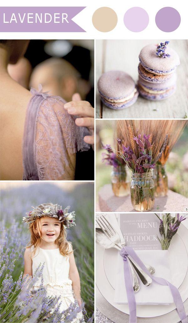 春のための素朴なエレガンスラベンダーの結婚式の色のアイデア