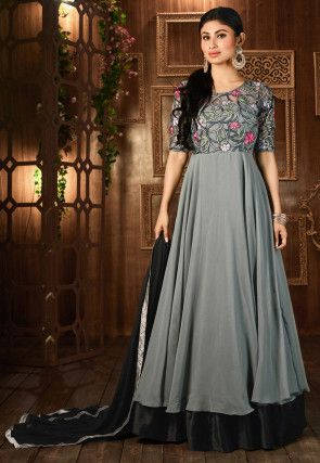 221 best kleider images on Pinterest | Blue lehenga, Bridal lehenga ...