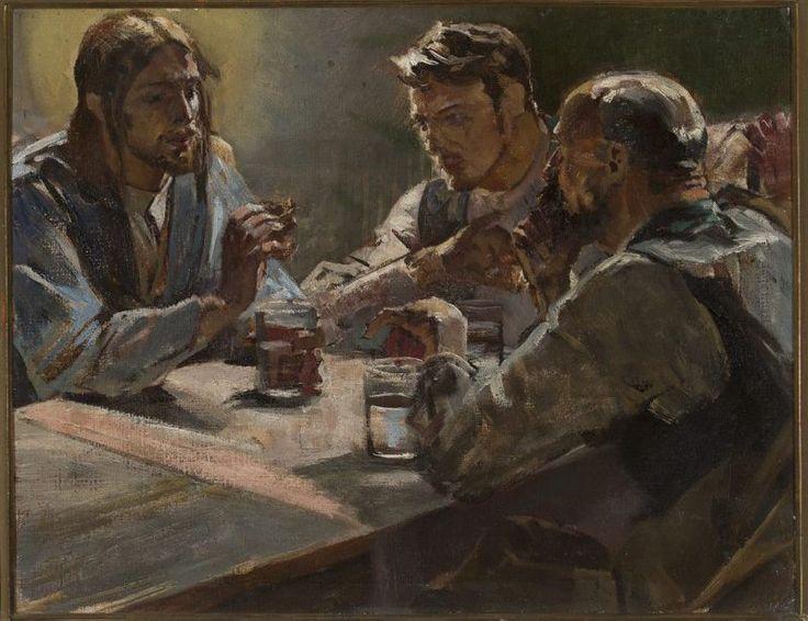 Jacek Malczewski -Chrystus w Emaus