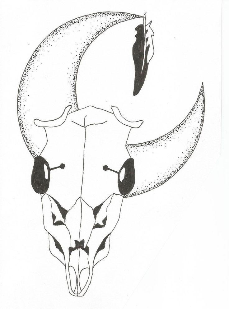 skull drawing by Joanna Franks
