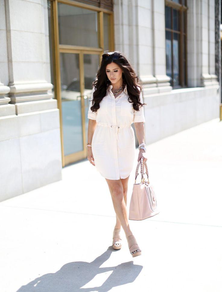 chloe look alike handbags - nordstrom+shirt+dress+cream,+chloe+bag+pink,+henri+daussi+ring ...