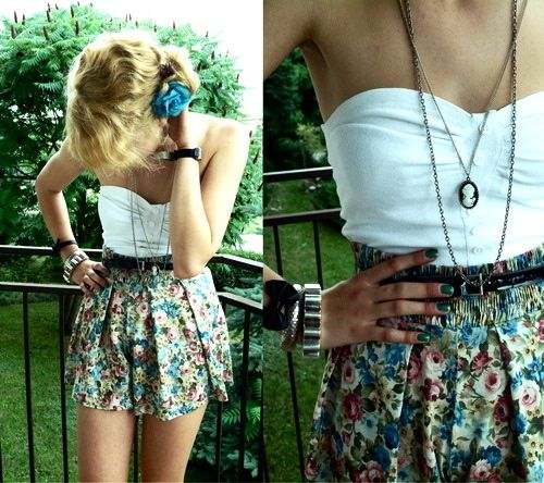 Summer Dresses, Floral Prints, Floral Skirts, Summer Day, Summer Outfit, Inspiration Pictures, Cute Outfit, The Dresses, High Waist Shorts