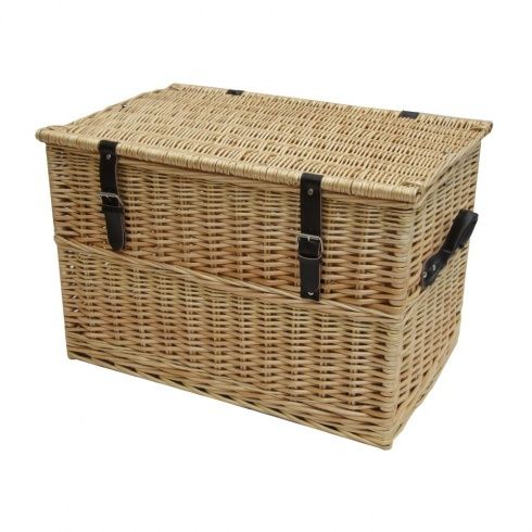 Natural Wicker Chest Storage Trunk
