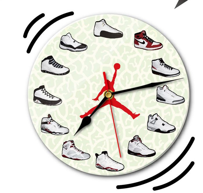 f47a2f150e7b NEW Jumpman Air Jordan AJ 1-12 Wood Wall Clock Shoes RETRO Michael Room XX9