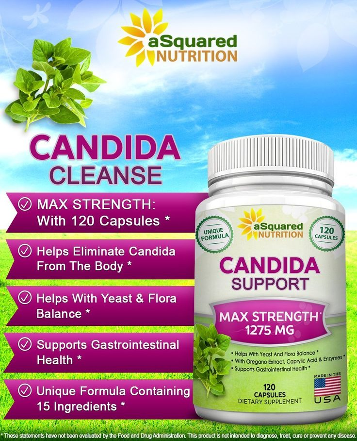 aSquared Nutrition Candida Support Cleanse Supplement - Pure Natural Candida Yeast Infection Support Detox Pills with Probiotics, Herbs & Antifungals - 120 Capsules