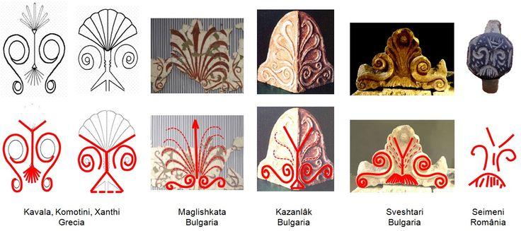 Inelul din bronz descoperit în necropola de la Seimeni prezintă incizat un pom al vieţii specific civilizaţiei getice dunărene, identic cu cel scluptat în piatra capitelurilor coloanelor descoprite în mormântul getic regal de la Sveshtari şi în templul din Ostrusha, lângă Kazanlâk, Bulgaria, dar şi în Grecia şi aflate în prezent în muzeele din Kavala, Komotini şi Xanthi.