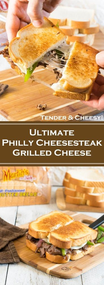 Ultimate Philly Cheesesteak Grilled Cheese on Martin's Old-Fashioned Real Butter Bread via @foxvalleyfoodie #ad #recipe
