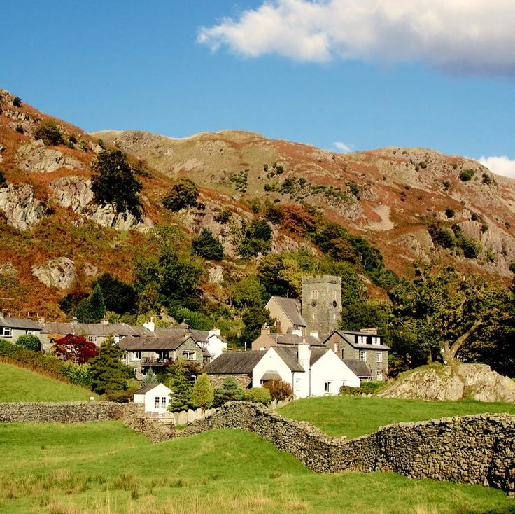 The tiny Village of Chapel Stile within the Langdale Valley, Cumbria