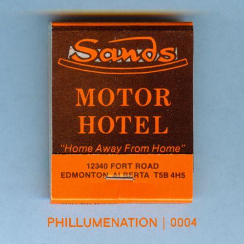 #Phillumenation 0004 : Sands Motor Hotel   Edmonton, Alberta, Canada