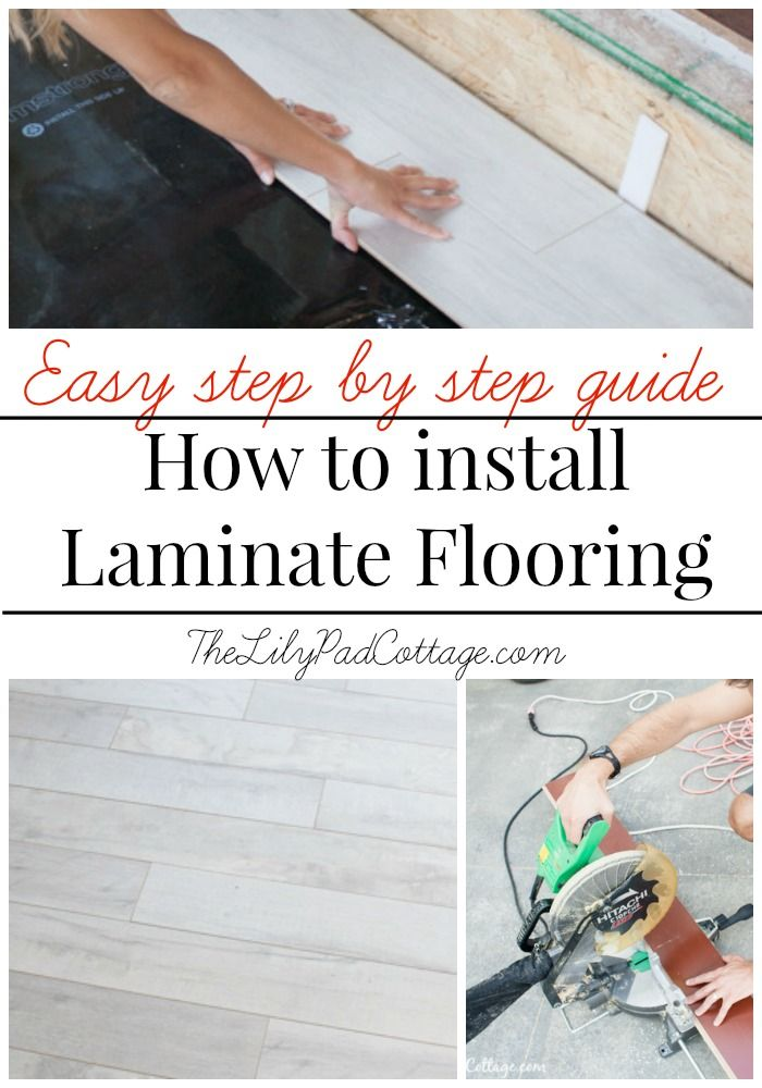 An easy step by step guide on how to install laminate flooring. Love the white wash color of this floor!