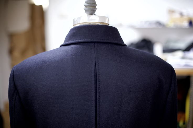 This Naval Pea Coat features an 'action back' in the upper section.