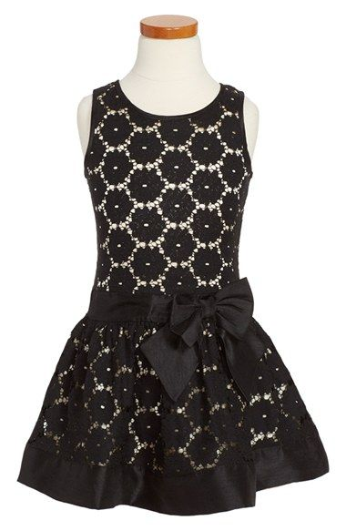 Zunie Sleeveless Lace Dress (Toddler Girls, Little Girls & Big Girls) available at #Nordstrom