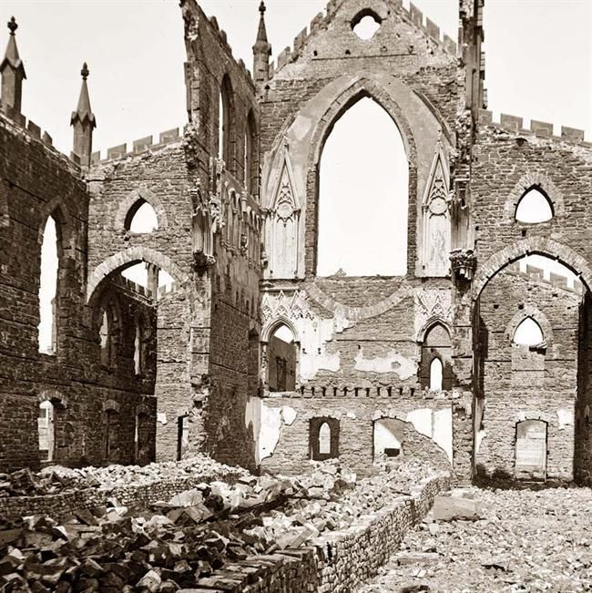 Charleston, South Carolina ruins (Civil War Era).