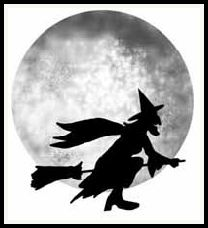 free halloween witch digital stamp set