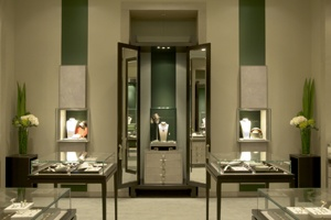 the small interior image of Van Cleef & Arpels at Nagoya Midland Square opened in March 2007