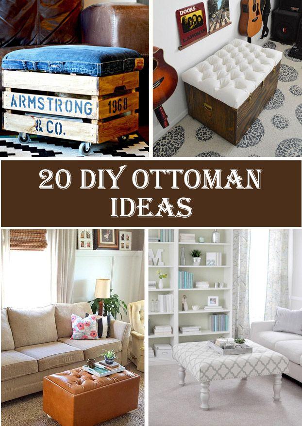 20 Creative & Beautiful DIY Ottoman Ideas