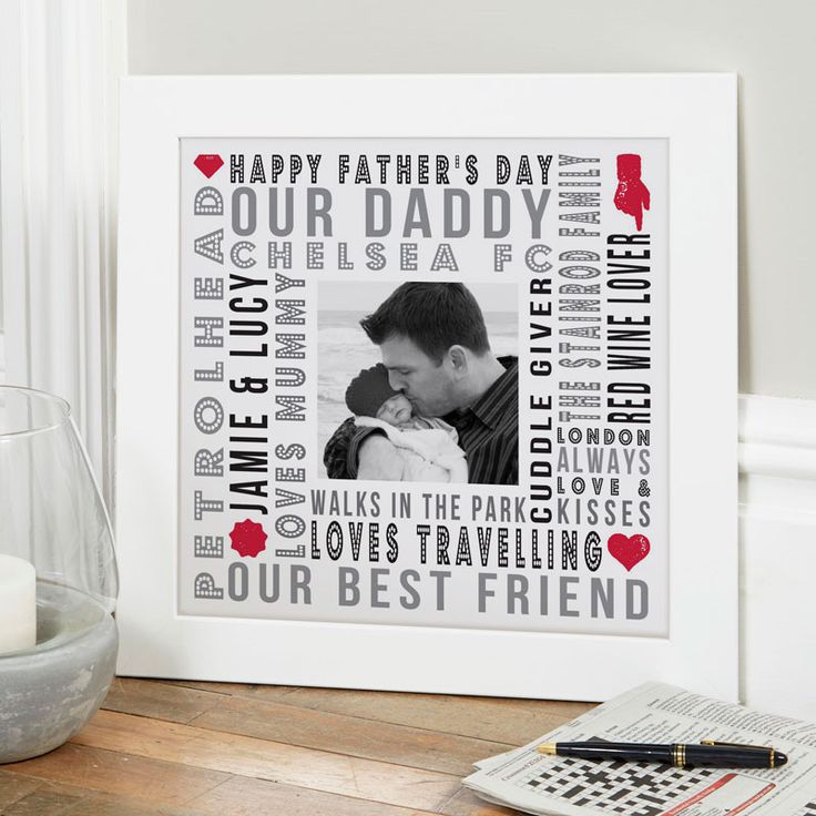 Are you searching for a unique gift for Father's Day? Try creating a personalised print or canvas with your words and photo upload. See your design come to life as you type with instant previews. All orders shipped in just 2 working days with free UK delivery.