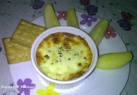 VEGGIE & MOZARELA BAKE AS DIP WITH CRACKERS
