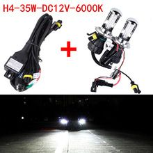 US $16.61 2X High Quality Xenon 35W H4 DC 12V HID Automotive Headlight Replacement Bulbs H4-3 Bi Xenon Beam only bulb + wire FREE SHIPPING. Aliexpress product