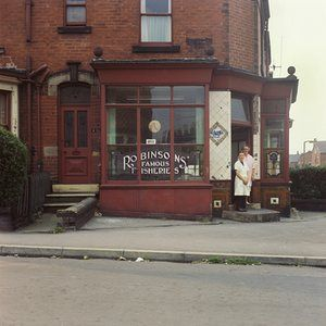 Mrs Collins and Mrs Clayton, Robinsons' Famous Fisheries, Beck Road, summer 1974